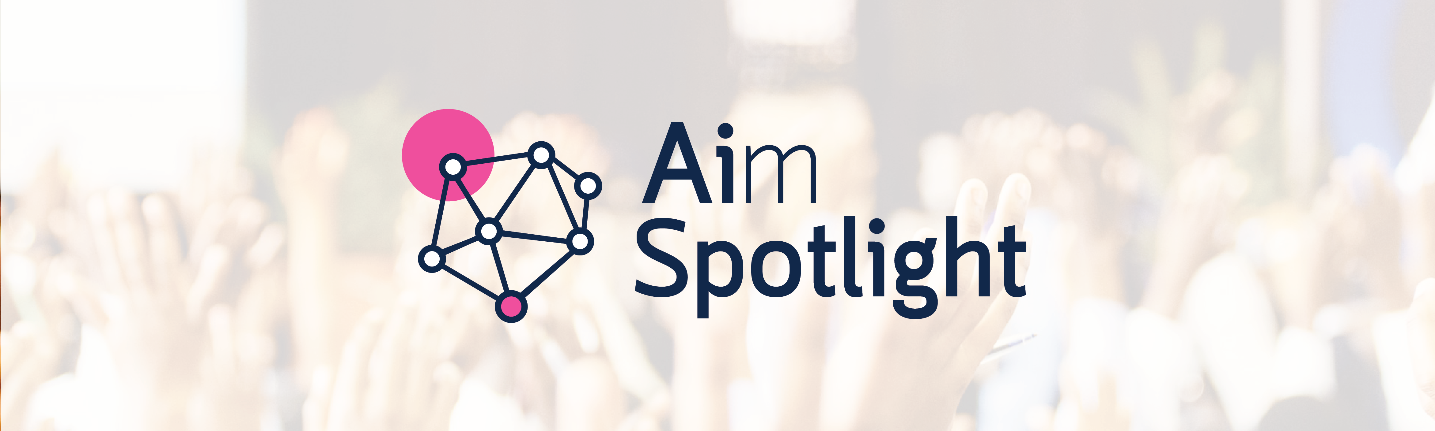 AIM Spotlight logo over background of people
