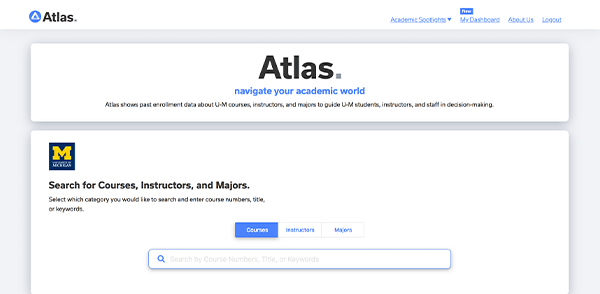 Screenshot of the Atlas user interface.
