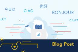 Yeti illustration with different language greetings