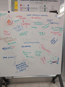 Whiteboard - what are you thankful for?