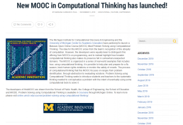 Screenshot of a news release from the Michigan Institute for Computation Discovery and Engineering