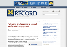 record article screen shot on fellowship program