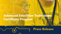 Advanced Education Technology Certificate Program Press Release Icon