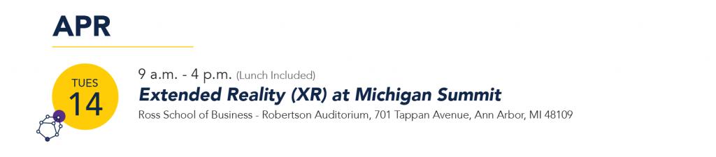 XR at Michigan Summit 4/14