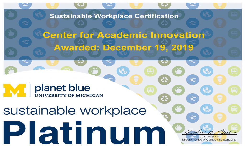 Sustainable Workplace Certification