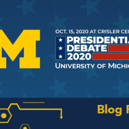 Presidential Debate 2020 at U-M graphic