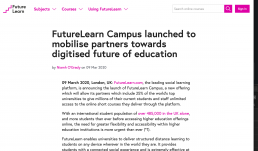FutureLearn Press Release Screen Shot