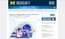 U-M IT News Screenshot
