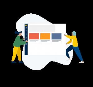 online course illustration