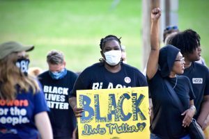 people marching in black lives matter protest