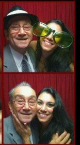 photo booth pictures of Priscilla Nunez and Frankie Matos