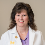 (Image of Michelle Aebersold, U-M Clinical Professor of Nursing.)
