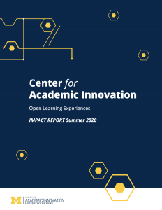 Cover of Open Learning Experiences Impact Report 2020