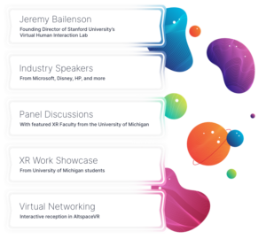 Jeremy Bailenson, Industry speakers, Panel Discussions, XR Work Showcase, Virtual Networking