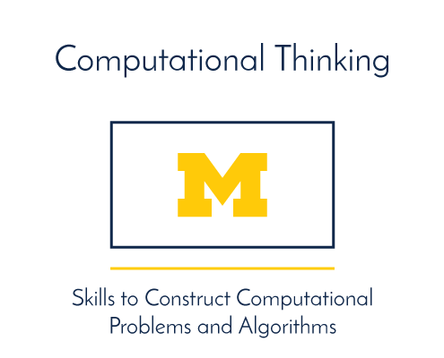 Computational Thinking. Skills to Construct Computational Problems and Algorithms.