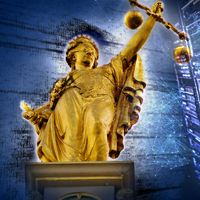 Lady Justice sculpture
