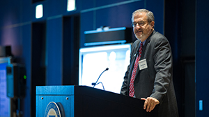 President Schlissel speaking while standing at a podium