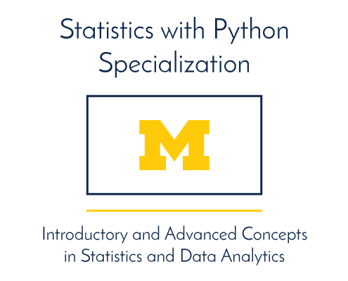 Statistics with Python. Introductory and advanced concepts in statistics and data analysis.