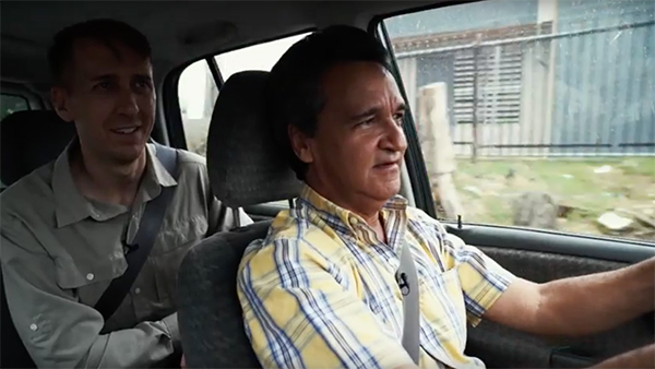 Will Potter and Dr. Figueroa talking in a car